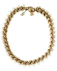 Jason Wu - Faux Pearl Collar Necklace Gold - Lyst
