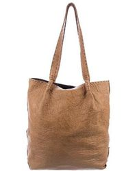 Henry Beguelin - Pebbled Leather Tote Brass - Lyst