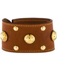 Louis Vuitton - Leather Wrap Bracelet Gold - Lyst