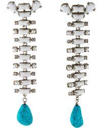 CALVIN KLEIN 205W39NYC - Dyed Howlite Western Drop Earrings Silver - Lyst