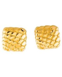 Judith Leiber - Gold-tone Scale Clip-on Earrings Gold - Lyst