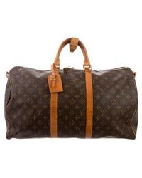 Louis Vuitton - Monogram Keepall Bandouliere 50 Brown - Lyst