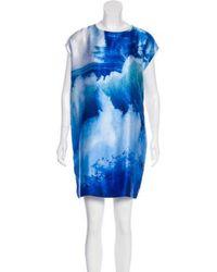 Tess Giberson - Silk Mini Dress - Lyst