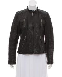 MICHAEL Michael Kors - Michael Kors Leather Zip-up Jacket - Lyst