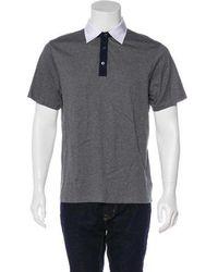 Michael Kors - Short Sleeve Polo Shirt Grey - Lyst