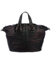 Givenchy - Embossed Leather Nightingale Satchel Black - Lyst
