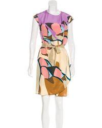 Issa - Printed Silk Dress W/ Tags - Lyst