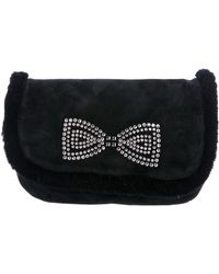 UGG - Alloway Crystal Bow Clutch Black - Lyst