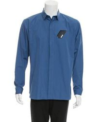 Dior Homme - Leather-trimmed Button-up Shirt W/ Tags - Lyst