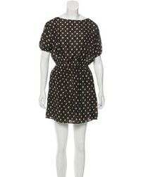 Girl by Band of Outsiders - Agnes Silk Dress Tan - Lyst