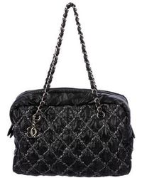 Chanel Tweed On Sch Bowler Bag Silver Lyst