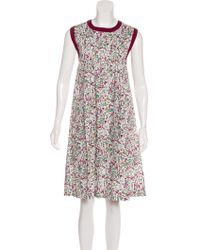 Cacharel - Floral Pleated Dress - Lyst