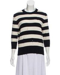Veronica Beard - Striped Knit Sweater - Lyst