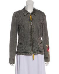 Christian Lacroix - Denim Patch-accented Jacket Grey - Lyst