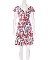 Carolina Herrera - Abstract Print Sleeveless Mini Dress - Lyst