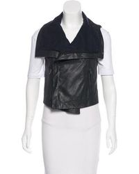 VEDA - Leather -accented Vest - Lyst