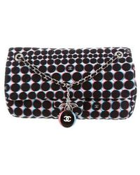 Chanel - Printed Nylon Flap Bag Black - Lyst