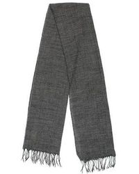 A.P.C. - Wool Houndstooth Scarf Black - Lyst