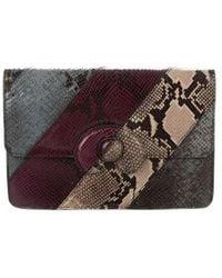 Mark Cross - Embossed Animal Print Clutch W/ Tags Purple - Lyst