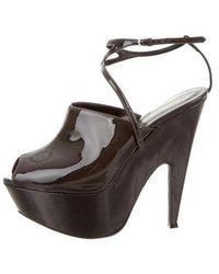 Narciso Rodriguez - Mia Platform Sandals Grey - Lyst