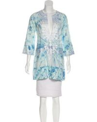 Anya Hindmarch - Embroidered Tie-dye Tunic - Lyst
