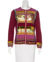 John Galliano - Wool & Angora-blend Cardigan Multicolor - Lyst
