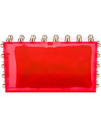 Charlotte Olympia - Pandora Studded Clutch Red - Lyst