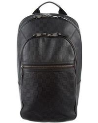 f19b3052bb136 Lyst - Louis Vuitton Damier Graphite Michael Backpack Black in ...