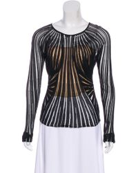 Dior - Pleated Knit Top - Lyst