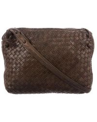 1bf1d0395b08 Lyst - Bottega Veneta Intrecciato Leather Bag Brown in Metallic