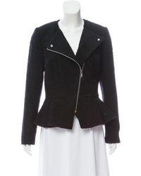 MICHAEL Michael Kors - Michael Kors Structured Tweed Jacket Black - Lyst