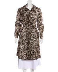 Lanvin - Animal Print Trench Coat Black - Lyst