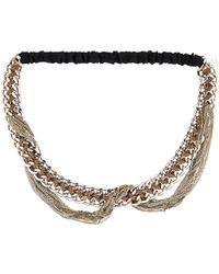 Maison Michel - Chain-link Headband W/ Tags Gold - Lyst