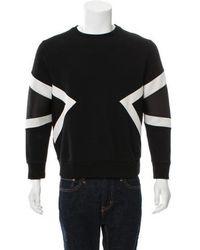 Neil Barrett - Two-tone Neoprene Sweatshirt - Lyst
