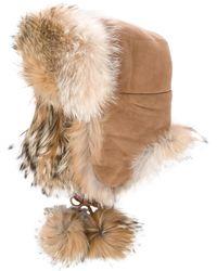 Dior - Suede Fur-trimmed Hat - Lyst