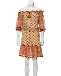Talitha - Printed Off-the-shoulder Dress Orange - Lyst