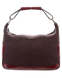 Tod's - Leather-trimmed Canvas Bag Brown - Lyst