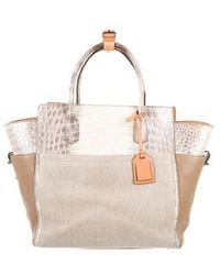 1874bc93bc24 Reed Krakoff - Alligator-trimmed Atlantique Bag Natural - Lyst