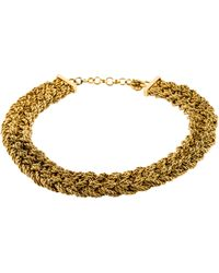 Dior - Braided Collar Necklace Gold - Lyst