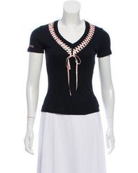 John Galliano - Casual Lace-up Top W/ Tags - Lyst