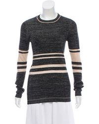 Creatures of the Wind - Rib Knit Long Sleeve Sweater Black - Lyst