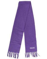 Moschino - Wool Embellished Scarf - Lyst