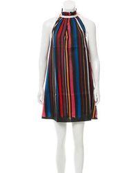 Adam Selman - Silk Striped Dress - Lyst