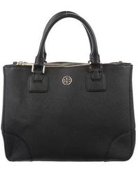 Tory Burch - Woven Robinson Double Zip Tote W/ Tags Black - Lyst