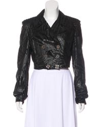 Emilio Pucci - Cropped Leather Jacket - Lyst