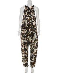 Christian Wijnants - Silk Printed Jumpsuit - Lyst