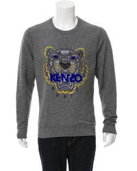 KENZO - Tiger Embroidered Sweatshirt Grey - Lyst