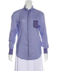 Band of Outsiders - Striped Button-up Top - Lyst