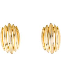 Givenchy - Fluted Clip-on Earrings Gold - Lyst