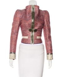 Marc Jacobs - Leather-trimmed Evening Jacket W/ Tags - Lyst